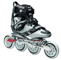 Roces Adult Mens LAB Fitness Inline Skates Blades Black/Silver 400721