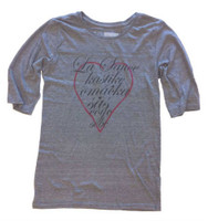 Sauce Hockey Women's Designer 3/4 Sleeve Tee Gray W-0004-12