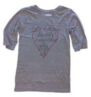 Sauce Hockey Women's Designer 3/4 Sleeve Tee Gray W-0004-12