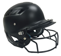 Schutt Sports Adult AiR Maxx T Fitted Fastpitch Batters Helmet, B311100 (Black)