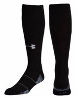Under Armour Unisex Team Over the Calf Sock, 1 Pair Black/White 1270244