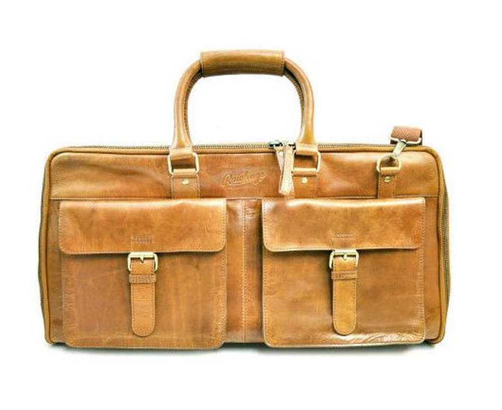 f8fd9be704 Rawlings Baseball Rugged Weekender Leather Duffel Bag