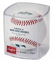 Rawlings Ball of Fame Baseball Display Cube Collectible Balls Clear RBOF