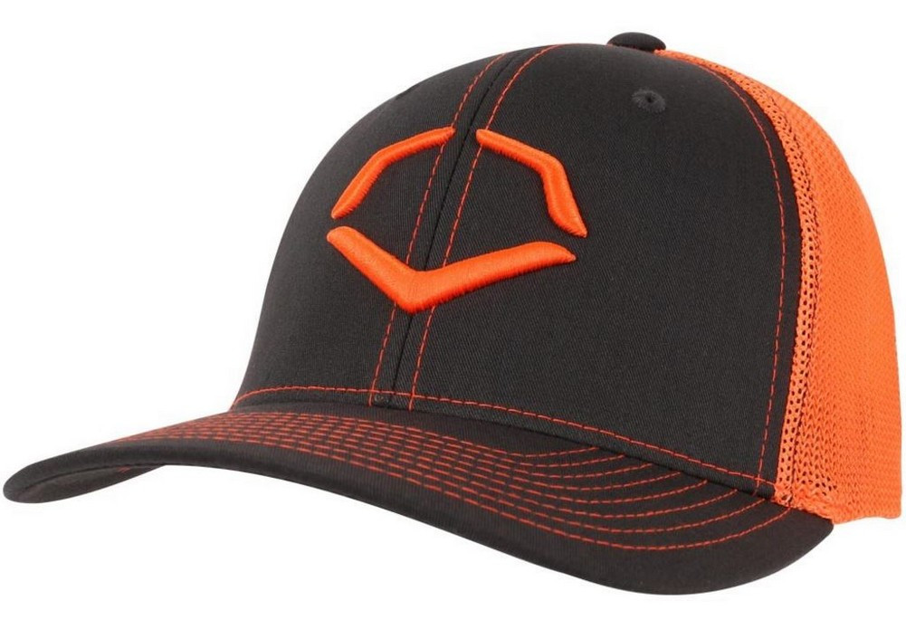 03fea6ca64b2c Evoshield Men s Lock Shields Perf Fitted Hat Charcoal Orange 0243008.650 (L  XL) - Sports Diamond