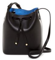 Lodis Women's Blair Blake Small Crossbody Drawstring Bag Black/Blue 930BLAR-BAC