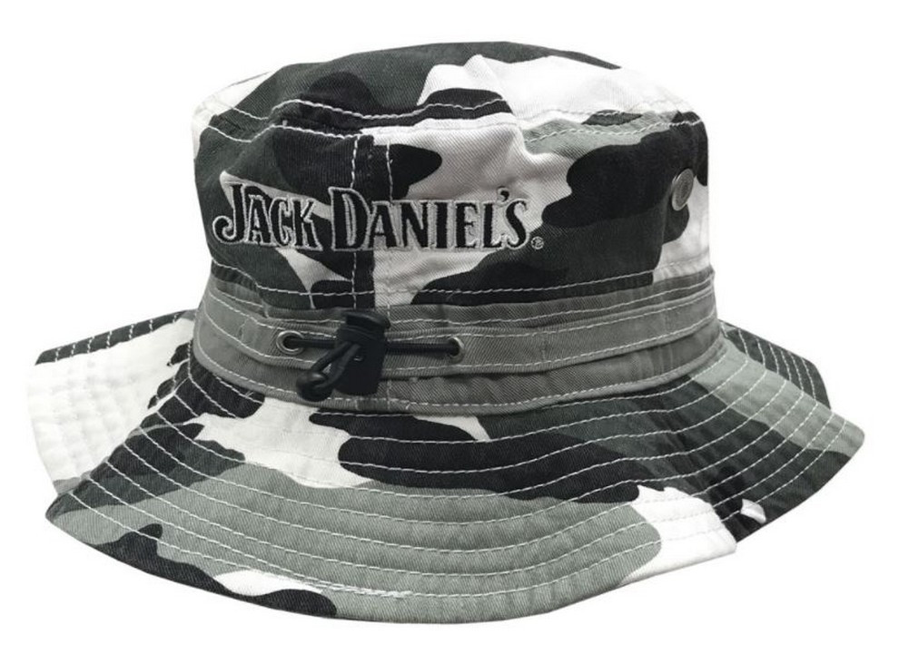 e06f37200f Jack Daniels Men s Wide Brim Boonie Fishing Bucket Hat Gray Camouflage  JD77-124 - Sports Diamond
