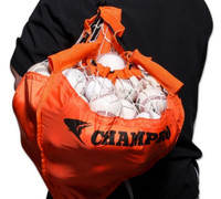 Champro Sports Field Ball Caddy Fold-up Holds 120 Baseballs Orange/Black NB33