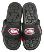NHL Hockey Montreal Canadiens Slide Sandal Beach Shoe, Black/Red JVM0551BNH