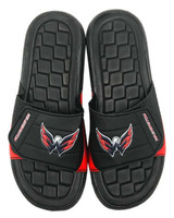 NHL Hockey Washington Capitals Slide Sandal Beach Shoe, Black/Red JVM0563BNH