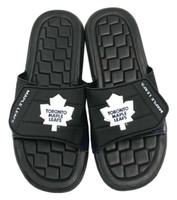 NHL Hockey Toronto Maple Leafs Slide Sandal Beach Shoe, Black/White JVM0556BNH