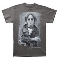 John Lennon Unisex New York City NYC '1972 Tee T-Shirt Charcoal Gray JL1024