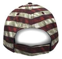 American Mills American Flag Design Baseball Cap Hat Red/Beige/Blue AFH-01
