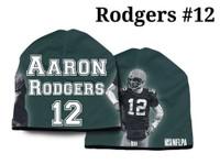 American Mills NFL Aaron Rodgers #12 Beanie Knit Cap Hat Green/Black NFLB04