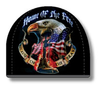 American Mills Home of the Free Because of the Brave Beanie Knit Hat Black ER-11