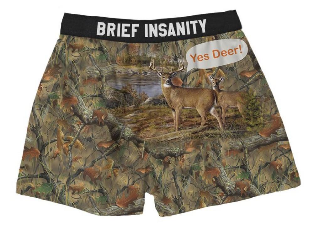 Brief Insanity Men/'s Bite Me Mosquito Commando Boxer Shorts Underwear 7020007