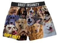 Brief Insanity Men's Ruff Day? Dog Boxer Shorts Boxers Underwear Undies 7020008