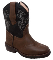 Adtec Case IH Western Light Up Cowboy Boot Faux Leather Brown/Black CI-5016