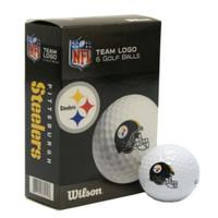 Wilson NFL Pittsburgh Steelers Golf Balls Team Logo 6 Ball Pack Wilson Ultra 500