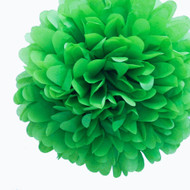 "Green 14"" Party Tissue Pom Pom, Set of 4"