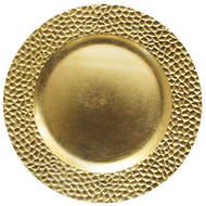 Gold Hammered Polypropylene Plate Chargers - Set of 4