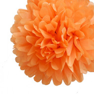 "Orange 14"" Party Tissue, Set of 4 Pom Pom, Set of 4"