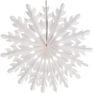 White 14 Inch Paper Sunburst Honeycomb Decoration