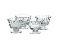 Fluted Dessert Dishes - Set of 4