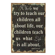 While We Try to Teach Burlap Wall Print