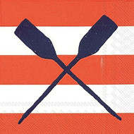 Ideal Home Range Yacht Club Oars Coral Cocktail Paper Napkin