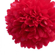 "Red 14"" Party Tissue Pom Pom, Set of 4"