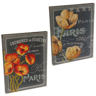 Poppy & Tulip Wall Art Set