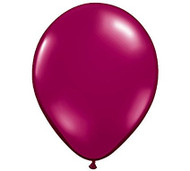 "11"" Sparkling Burgundy Jewel Tone Latex Balloon - Set of 6"