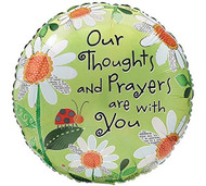"17"" Thoughts and Prayers Mylar Balloon"