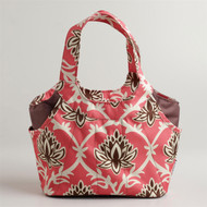 Coral Print Lunch Bag