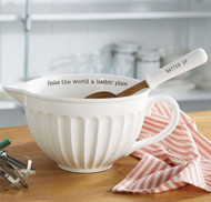 Circa Batter/Mixing Bowl with Mixing Spoon