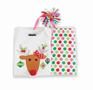 Mud Pie Infant Girls Reindeer 3 piece Set (0-6 months)