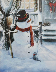 Snowman Lighted Print