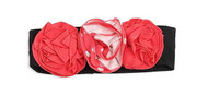 Baby Girls Fuchsia and Black Rose Headband