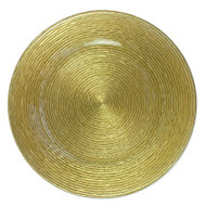 Gold Glass Plate Chargers - Set of 4 1