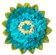 Tissue Paper Flower - Peacock & Teal 15 Inch
