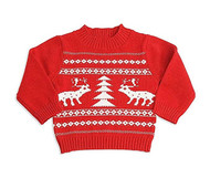 Baby Boys Red Reindeer Sweater