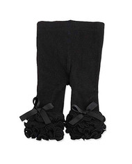 Baby Girls Black Ruffle Legging (0-12 months)