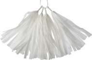 White 12 Inch Paper Tassels, Set of 8