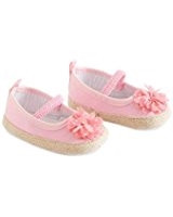 Baby Girls Pink Shoes with Flower 6-12 months