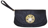 Mud Pie Sealife Icon Black Wristlet