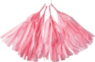 12 Inch Paper Tassels, Pink, Set of 8