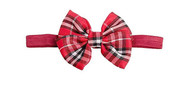 Red/Black Plaid Bow Tie, Infants, One Size