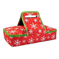 DII Snowflake Rectangular Casserole Carrier