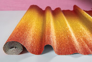 Ombre Gilt-Copper Italian Crepe Paper Roll & Table Runner