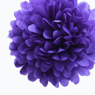 "Royal Purple 14"" Party Tissue Pom Pom, Set of 4"